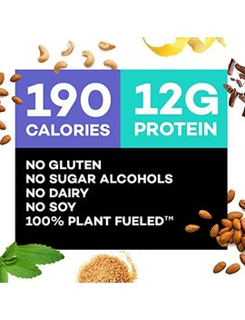 Truwomen Plant Fueled Protein Bars, Variety Pack (12 Count) | Non Gmo, Vegan, Gluten Free, Kosher, Soy Free, Dairy Free, Healthy Snack Bar, Natural Ingredients | 12g Protein by Truwomen