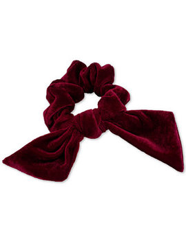 Velvet Bow Scrunchie by Guess