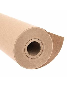 "Eco Kraft Wrapping Paper Roll (Jumbo Roll) | Biodegradable Recycled Material | Made In The Usa | Multi Use: Natural Wrapping Paper, Table Cover/Runner, Moving, Packing & Shipping | 30"" X 1200"" (100ft) by Paper Farm"