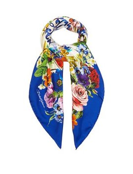 Majolica Print Silk Scarf by Matches Fashion