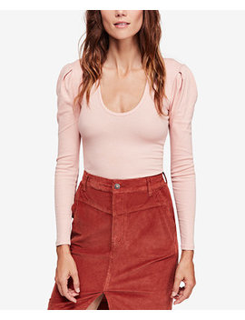 Hey Lady Ribbed Pleated Shoulder Top by Free People