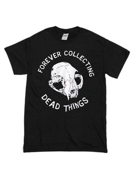 Cat Skull Taxidermy Illustration Screenprinted Black T Shirt, 'dead Things', By Vector That Fox by Etsy