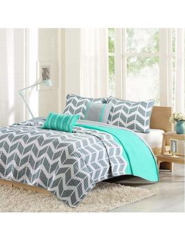 Intelligent Design Id80 503 Nadia Coverlet Set Full/Queen Teal by Intelligent Design