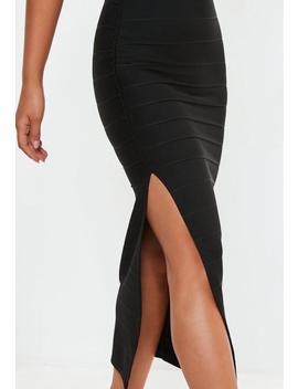 Black Bandage Bandeau Maxi Dress by Missguided