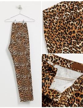 Asos Design Slim Jeans In Leopard Print 'co Ord' by Asos Design