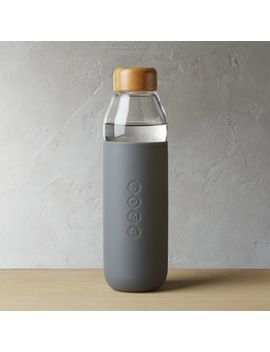 Soma Grey Water Bottle by Crate&Barrel