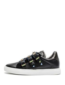 Women's Zv1747 Metal Buckled Leather Sneakers by Zadig & Voltaire