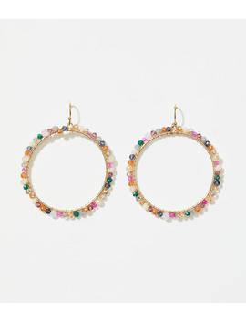 Beaded Ring Earrings by Loft