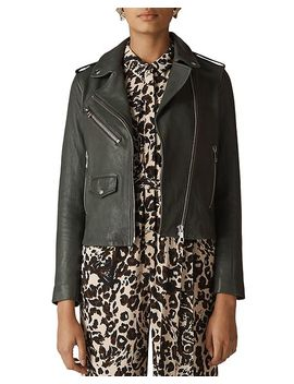 Agnes Leather Biker Jacket by Whistles