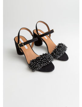 Beaded Strappy Heeled Sandals by & Other Stories