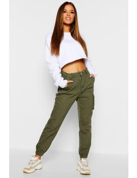 Petite Cargo Pocket Jean by Boohoo