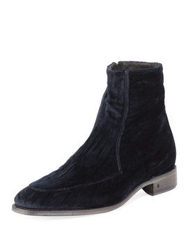 Men's Amsterdam Apron Toe Velvet Boot by John Varvatos