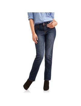 """Women's Ultimate Stretch Straight Leg 30"""" Inseam Jeans by A3 Apparel"""