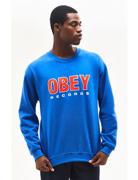 Obey Records Crew Neck Sweatshirt by Pacsun