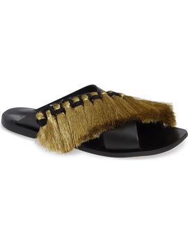 Fifi Fringe Slide Sandal by Topshop