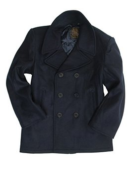 Miltec Dark Blue Us Navy Pea Coat by Miltec