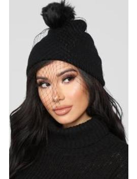 Can't Wait Beanie   Black by Fashion Nova