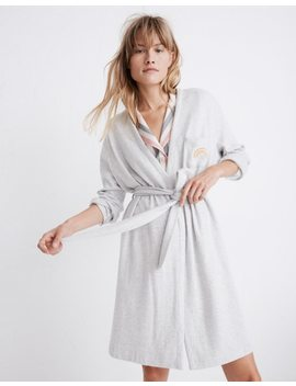 Rainbow Embroidered Robe by Madewell