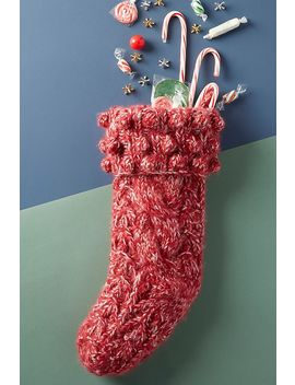 Irish Sweater Stocking by Anthropologie