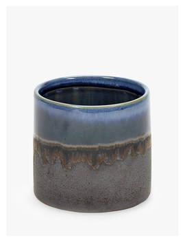 Serax Misty Glazed Pot, Blue by Serax