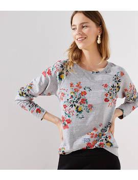 Winter Bouquet Sweatshirt by Loft