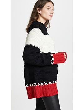 Cross Stitch Crew Neck Sweater by Smythe