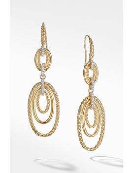 Continuance Drop Earrings With Diamonds In 18 K Yellow Gold by David Yurman