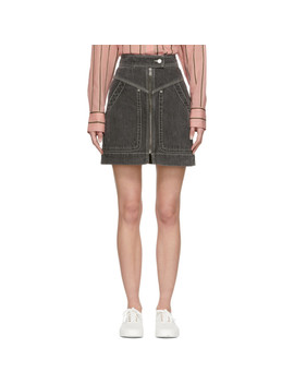 Black Denim Ioline Miniskirt by Isabel Marant Etoile