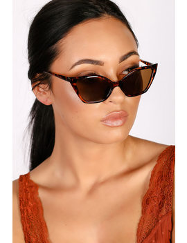 Feline Fierce Tortoise Cat Eye Sunglasses by Lulus