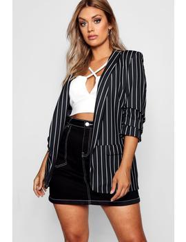 Plus Striped Blazer by Boohoo