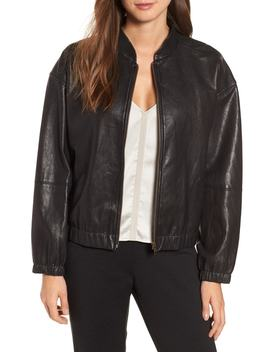 Leather Bomber Jacket by Eileen Fisher