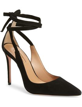 Milano Ankle Tie Pump by Aquazzura