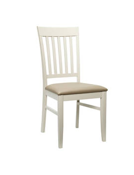 John Lewis & Partners Alba Slat Back Dining Chair, Soft Grey/Oak by John Lewis & Partners