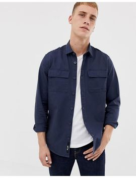 Only & Sons Military Shirt In Regular Fit by Only & Sons