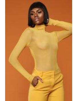 I Like It Bodysuit   Mustard by Fashion Nova