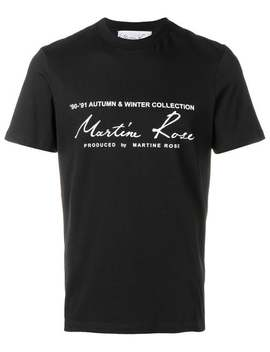 Printed Logo T Shirt by Martine Rose