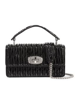 Cleo Matelassé Patent Leather Shoulder Bag by Miu Miu
