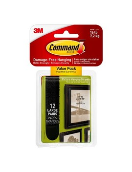 command-large-black-picture-hanging-strips-value-pack,-12_pk by command