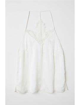 Top In Satin Schiena In Pizzo by H&M