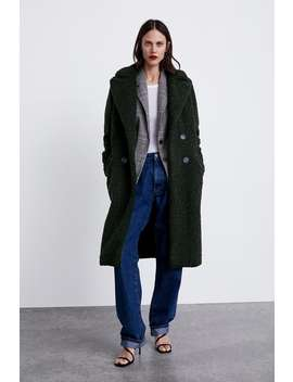Faux Shearling Coat  New Inwoman by Zara