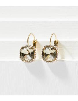 Pave Framed Gem Drop Earrings by Loft