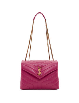 Pink Small Loulou Monogramme Chain Bag by Saint Laurent