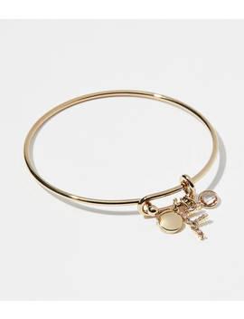 Initial Charm Bangle Bracelet by Loft