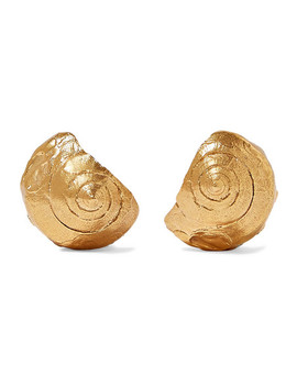 The Floating Questions Gold Plated Earrings by Alighieri