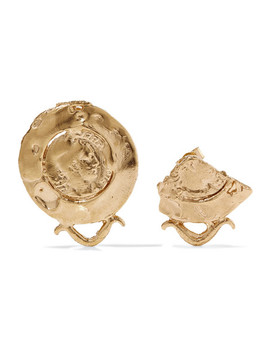 La Passione Di Napoli Gold Plated Earrings by Alighieri