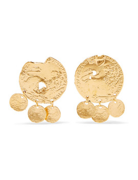 Baby Lion Gold Plated Earrings by Alighieri