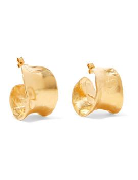 The Joker's Game Gold Plated Hoop Earrings by Alighieri