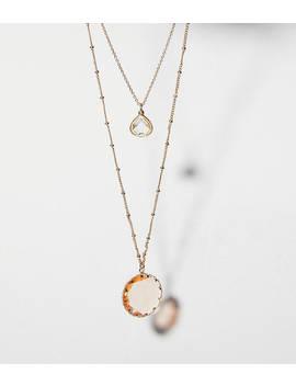 Stone Pendant Station Necklace by Loft