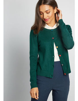 Charter School Crew Neck Cardigan by Modcloth