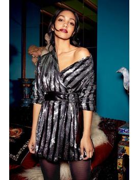 Last Friday Night Sequin Blazer Dress by Nasty Gal